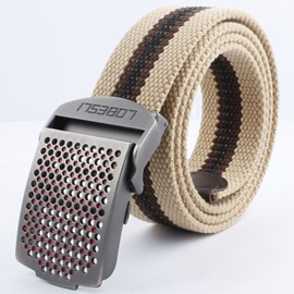 Ericdress Casual Stripes Weaved Automatic Belt For Men