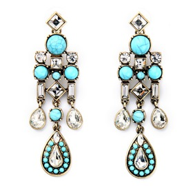 Ericdress Exaggerate Natural Stone Stud Earrings