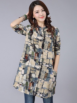 Ericdress Printed A-Line Casual Blouse