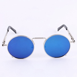 Ericdress Punk Round Reflective Sunglasses