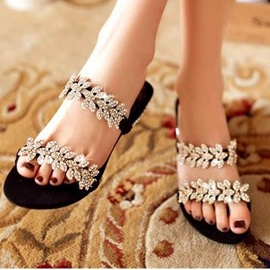 Ericdress Luxurious Rhinestone Sandals