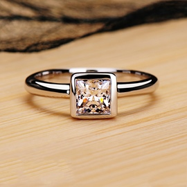 Square NSCD Diamond Wedding Ring