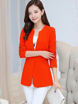 Ericdress Plain One Button Patchwork Blazer