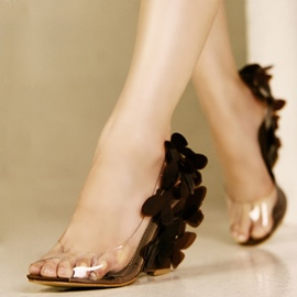 Ericdress Princess Jelly Wedge Sandals