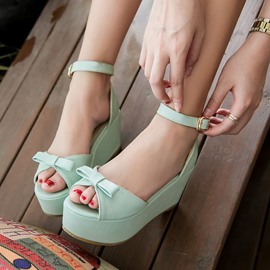 Ericdress Lovely Bowtie Wedge Sandals