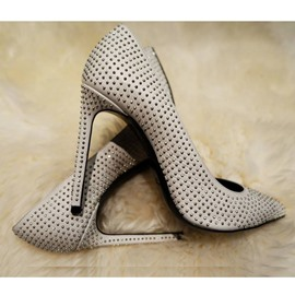Ericdress Beige Rivets Pointed Toe Pumps