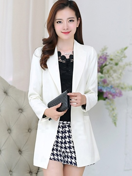 Ericdress Simple Mid-Length Cardigan Blazer