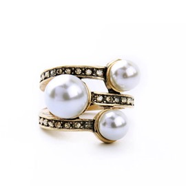 Ericdress Celebrity Pearl Ring