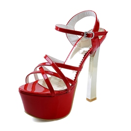 Ericdress Crossed Strap Stiletto Sandals