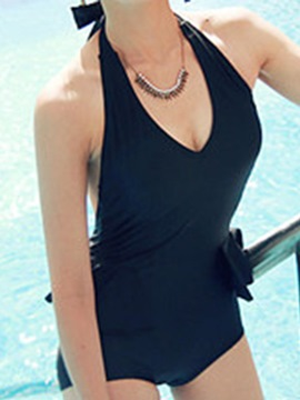 Ericdress Black Halt Backless Monokini