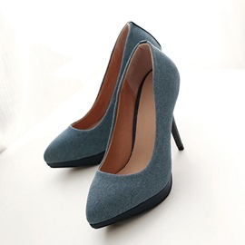 Ericdress Simple Denim Pumps