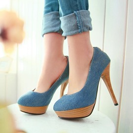 Ericdress Elegant Denim Pumps