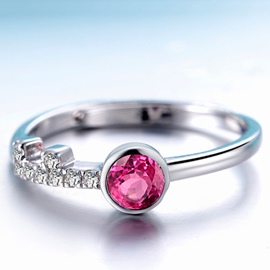 Ericdress Creative Key Tourmaline Ring