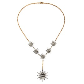 Ericdress Noble Diamante Star Necklace