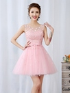 Ericdress Scoop Neck Flower Bowknot Short Prom Dress