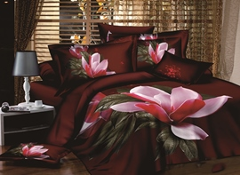 Ericdress Rare Flower Blossom Print 3D Bedding Sets