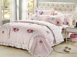 Ericdress Fragrance Magnificent Flower Cotton Bedding Sets