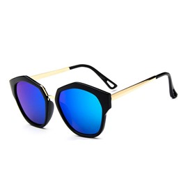 Ericdress Irregular Frame Reflective Sunglasses