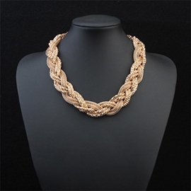 Ericdress Europeamerica Braided Alloy Necklace