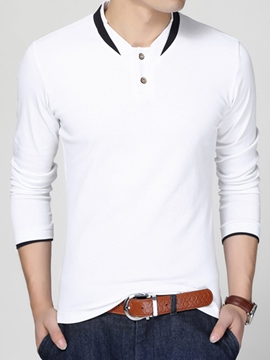Ericdress Unique Stand Collar Pullover Men's T-Shirt