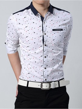 Ericdress Printed Long Sleeve Men's Shirt