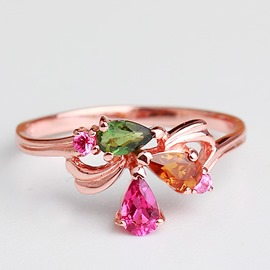Ericdress Natural Tourmaline Ring