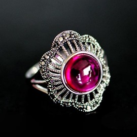 Ericdress Exaggerate Hollow Rhinestone Ring