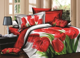 Ericdress Fragrance Flower Print 3D Bedding Sets