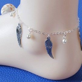 Ericdress Angle Wing Pearl Anklet