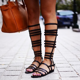 Ericdress Concise Cut Out Gladiator Flat Sandals