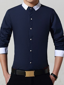 Ericdress Long Sleeve Simple Gentlemen Shirt