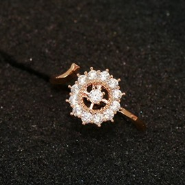 Ericdress Zircon Inlaid Sun Open Ring