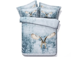 Ericdress Flying Owl Print 3D Bedding Sets