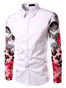 Ericdress Printed Long Sleeve Noble Men's Shirt
