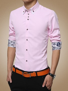 Ericdress Classic Printed Long Sleeve Men's Shirt