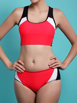 Ericdress Color Block Casual Sports Swimwear