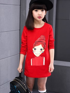 Ericdress Cartoon Mid-Length Girls T-Shirt