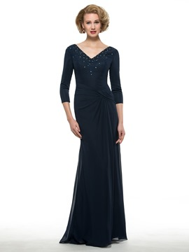 Ericdress Elegant V Neck Sheath Mother Of The Bride Dress