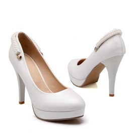 Ericdress Bright Pearl Beads Prom Shoes