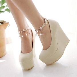 Ericdress Korean Tassels Ankle Strap Wedges