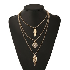 Ericdress Three-Layer Tassel Necklace