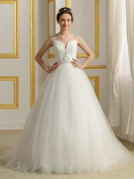 Ericdress Beautiful Straps Sheer Back A Line Wedding Dress