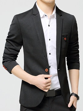 Ericdress Solid Color Vogue Design Men's Blazer