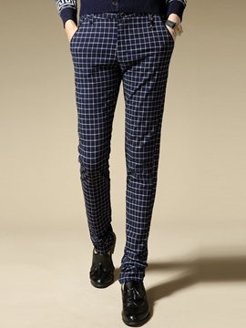 Ericdress Vogue Plaid Slim Men's Pants