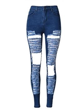 Ericdress Hole Pencil Denim Jeans