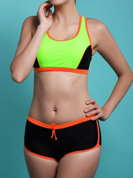 Ericdress Color Block Sports Casual Bikini