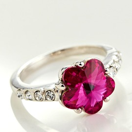 Ericdress Natural Crystal Sakura Ring