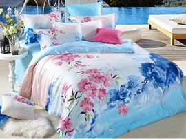 Ericdress Picturesque Yangtze River Delta Print Bedding Sets