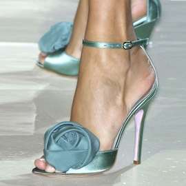 Ericdress Charming Green Stiletto Sandals