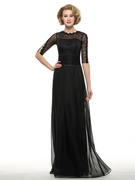 Ericdress Modest Jewel A Line Mother Of The Bride Dress